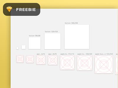 [Freebie] Favicon/iOS icon template! download template free grid favicon apple ios app icons icon sketch freebie
