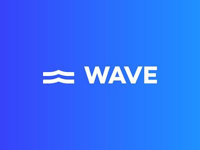 Unused logo mark gradient wave design logo branding mark redesign illustration typography icon logo mark brand flat symbol unused logo design brand design blue