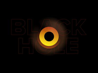 Black Hole earth solar system milky way galaxy illustration fun universe astronomers black hole yellow red hole black mark graphic visual design