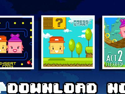 Two Pixels Game ios game pixel art