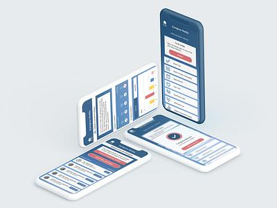 Carer App Design app mobile design ui