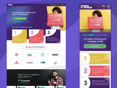 Finding Mortgages mortgage app ui design app mobile design ui website