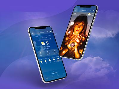 Weather App UI Design app design app ui design app pixel app mobile design ui