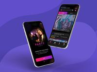 Party app UI Design