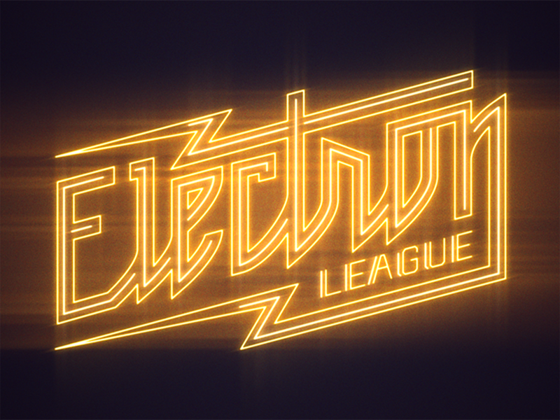 Electron League - neon animation still by Justin Duel James