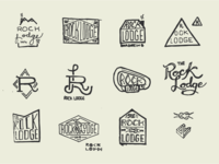 Rock Lodge Logo Sketches