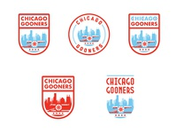 Chicago Gooners Logo Concepts