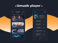 Umusik player dribbble