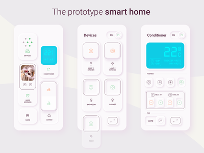 The prototype smart home interface smarthome smart figma photoshop ux ui mobile design app