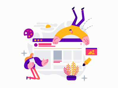 UI Graphics Designer vector ux ui minimal illustration icon graphic flat designer app