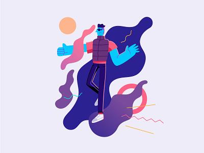 Thumbs Up UI Illustration design stylish fluid vector ux ui illustration graphic flat app