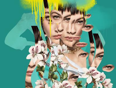 Primavera // personal work photomontage photoillustration collageart collage beauty illustration graphic design illustration