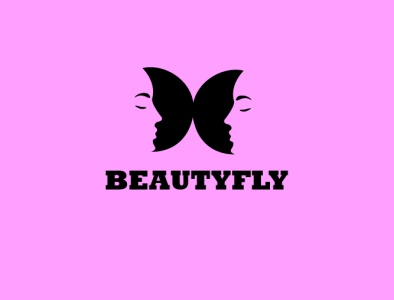 BEAUTYFLY  logo designs art banner design minimal vector logo illustration illustrator icon design branding