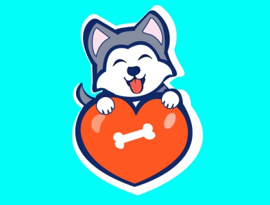 cutie puppy logo designs puppies cartoon character mascot character mascot typography minimal cartoon illustration vector banner design illustration illustrator icon design branding