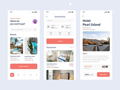 Hotel Booking App akramh2 mhmanik02 devignedge app design uix uixdesign uiux ui design ux ui