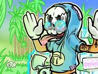 TP For Your Bunghole palm trees beach bar 90s cornholio pop culture handlettering illustrator illustration quaratine