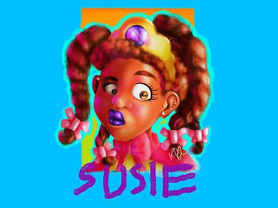 #sixfanarts - Susie Carmichael fanart cartoon television popculture nickelodeon procreate procreateapp ipadpro ipadproart illustration illustrator rugrats