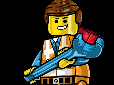 Everything is Awesome - Emmet WIP wip vector illustrator illustration emmet lego movie awesome