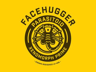 Facehugger h.r. geiger xenomorph facehugger ridley scott alien vector illustration illustrator