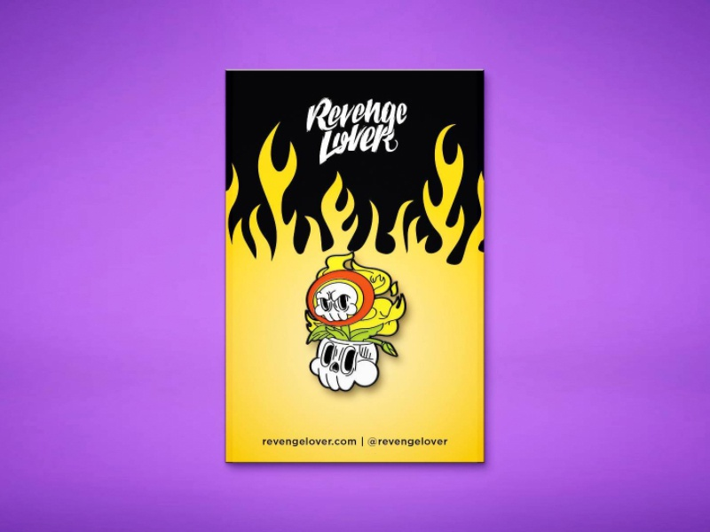 Fireflower pin