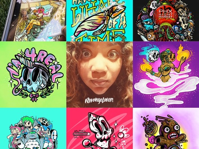 Art VS Artist 2018 selfie toons skulls procreate app ipad art illustration illustrator