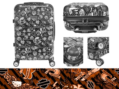 Harley Davidson Luggage luggage harley davidson traditional tattoo vector illustration illustrator