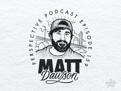 Matt Dawson of Crop Conference Portrait Illustration Podcast Art