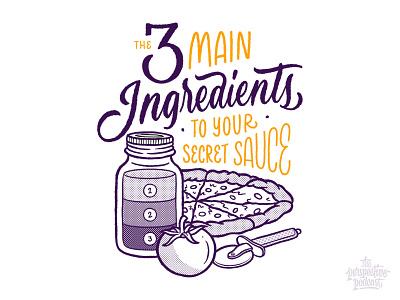 Secret Sauce Illustration & Lettering drawing typography art procreate handdrawn design podcast illustration hand lettering lettering