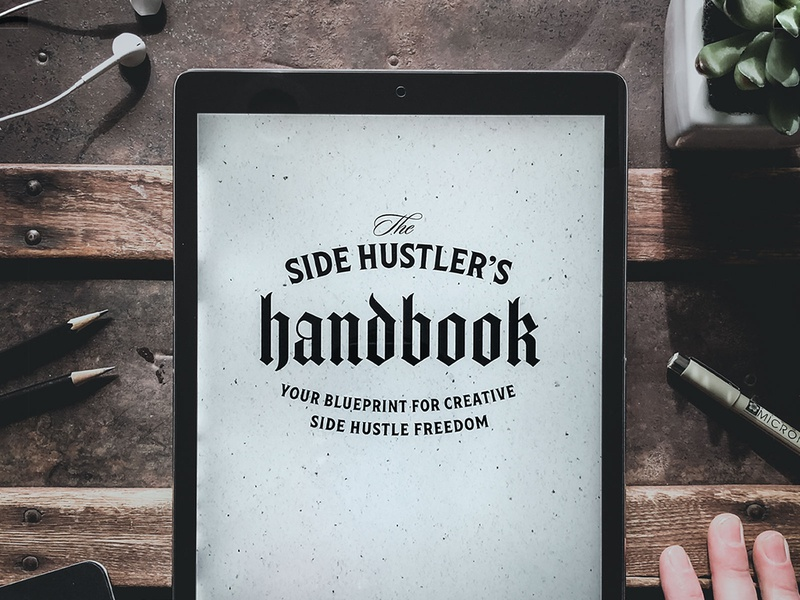 The Side Hustler's Handbook PDF Course drawing typography art procreate handdrawn design podcast illustration hand lettering lettering