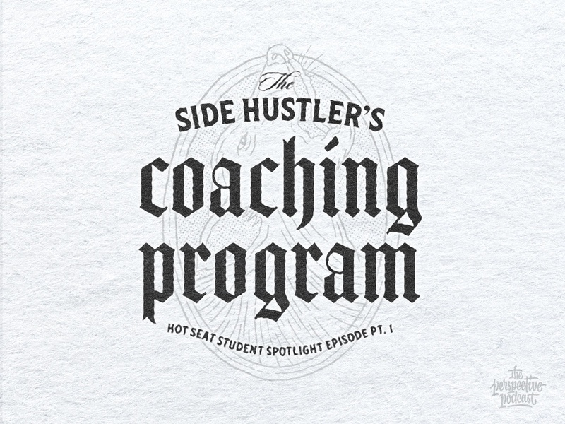 Pt. 1 Side Hustler's Coaching Student Spotlight Episode Artwork drawing typography art procreate handdrawn design podcast illustration hand lettering lettering