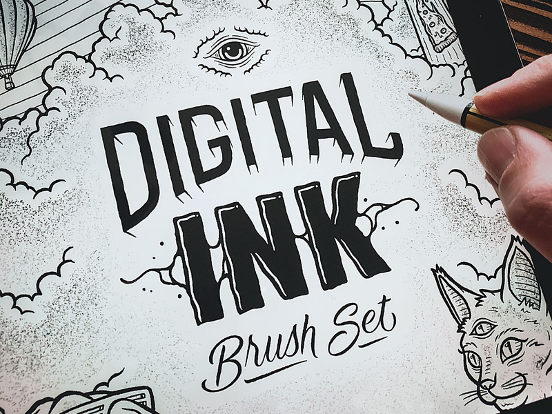 FREE Digital Ink Procreate Brushes typography logo branding handdrawn handlettering hand lettering procreate art illustration illustrator lettering procreateapp procreate