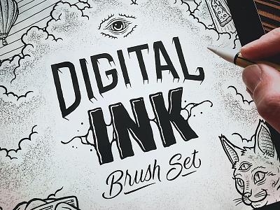 FREE Digital Ink Procreate Brushes typography logo branding handdrawn handlettering hand lettering procreate art illustration illustrator lettering procreateapp procreate