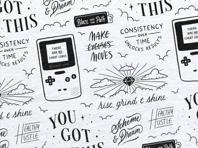 Flex Your Flavor Flash Sheet | Lettering & Illustration drawing typography procreate brushes procreate app procreate art art design procreate handdrawn illustration hand lettering lettering