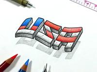 USA Levitating Letters