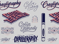 Colin Tierney / Crayligraphy Custom Lettering