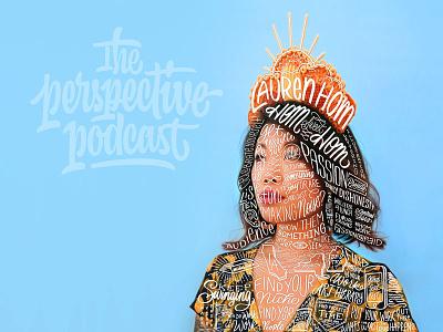 Lauren Hom / Hom Sweet Hom Pocast Episode procreate branding design sketch podcast lettering hand lettering