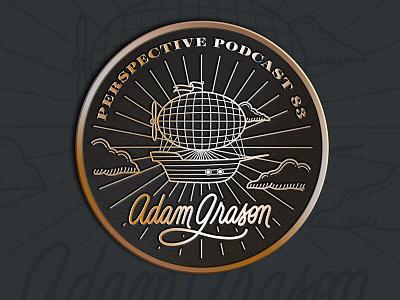 Adam Grason Enamel Pin Mockup podcast procreate art design illustration lettering hand lettering