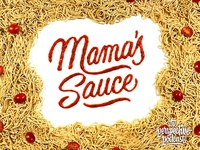 Mama's Sauce Food Lettering