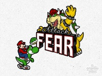 Attack Fear: Mario Kicking Bowser's Ass