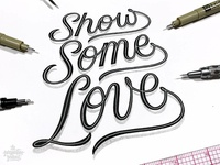 Show Some Love 3D Floating Lettering