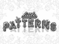 Little Patterns Floral 3D Lettering Illustration
