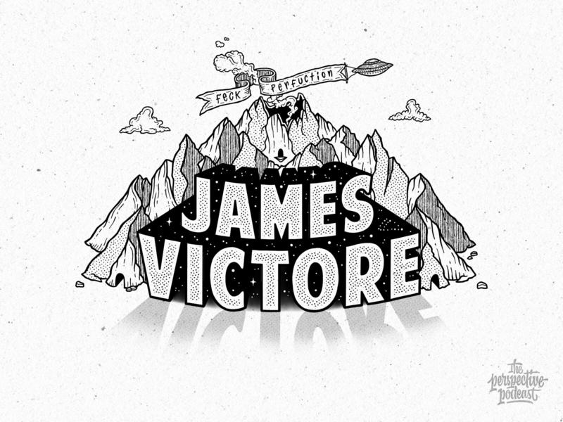 James Victore Podcast Illustration & Lettering typography art procreate handdrawn design illustration podcast hand lettering lettering
