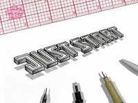 Just Start Floating 3D Lettering