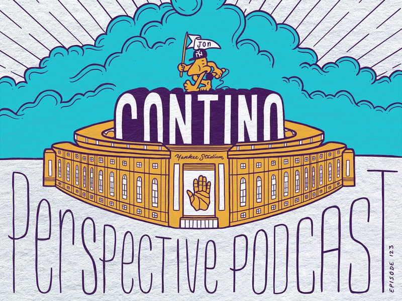 Jon Contino Illustration & Lettering Perspective Podcast Art drawing typography art procreate handdrawn design podcast illustration hand lettering lettering