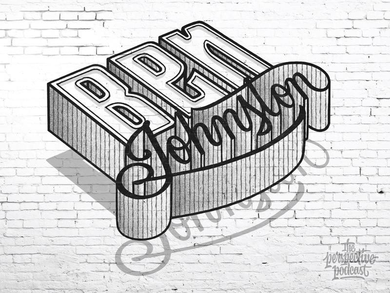 Ben Johnston Perspective Podcast Mural Lettering typography art procreate handdrawn design podcast illustration hand lettering lettering