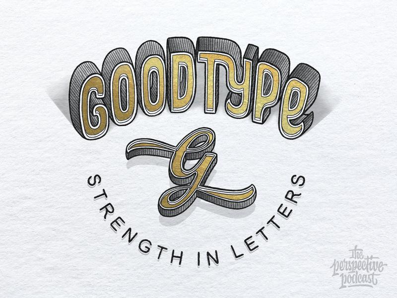 Goodtype Gold Foil Lettering & Illustration Logo logo typography art procreate handdrawn design podcast illustration hand lettering lettering