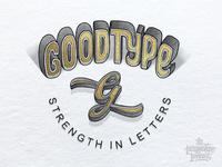 Goodtype Gold Foil Lettering & Illustration Logo