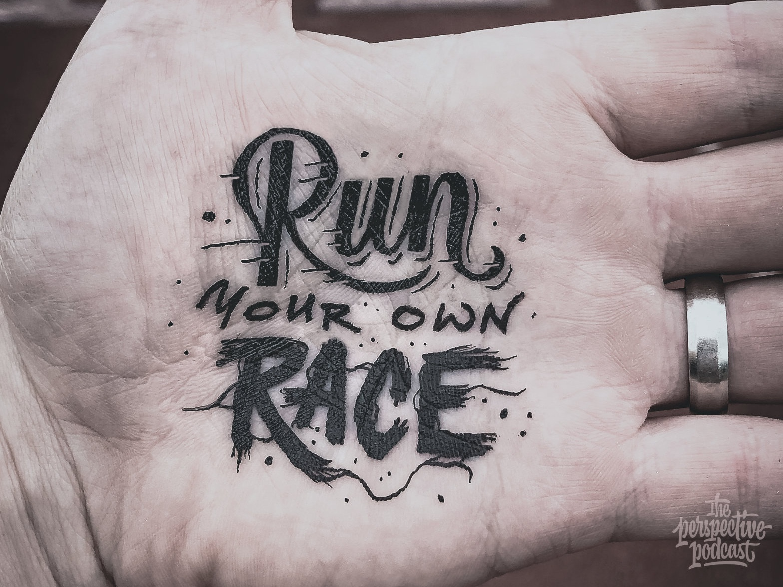 HAND Lettering - Run Your Own Race drawing typography art procreate handdrawn design podcast illustration hand lettering lettering