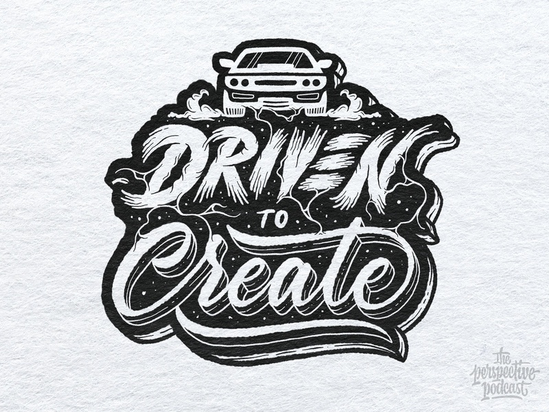 Driven to Create Lettering & Illustration drawing typography art procreate handdrawn design podcast illustration hand lettering lettering