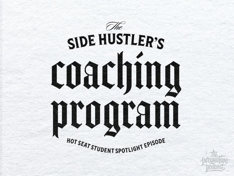 Side Hustler's Coaching Program typography art procreate handdrawn design podcast illustration hand lettering lettering